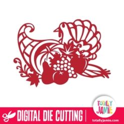 Thanksgiving Cornucopia Turkey Harvest - SVG Cut Files
