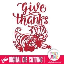 Thanksgiving Cornucopia Turkey Harvest Give Thanks - SVG Cut Files