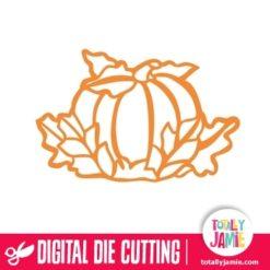 Thanksgiving Fall Leaves Pumpkin