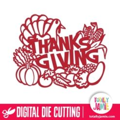 Thanksgiving Harvest Decoration Phrase - SVG Cut Files