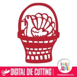 Thanksgiving Turkey Basket - SVG Cut Files