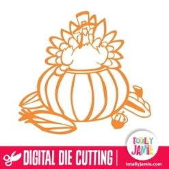 Thanksgiving Turkey Peekaboo Pumpkin - SVG Cut Files