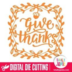Thanksgiving Vine Frame Border Give Thanks