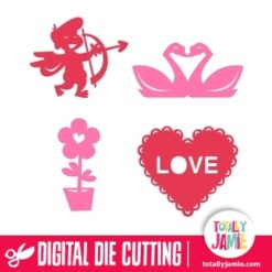 Valentine Silhouette Cutout Set - SVG Cut Files