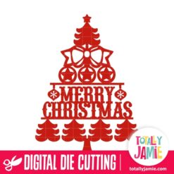 Vintage Merry Christmas Tree Decoration 2 - SVG Cut Files