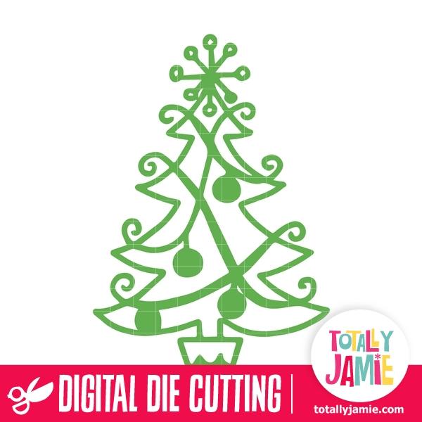 whimsical christmas tree svg cut files