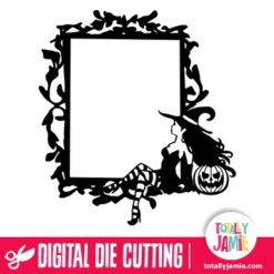 Whimsical Gothic Frame Halloween Vintage Sexy Witch - SVG Cut Files