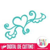 Whimsy Heart Flourish - SVG Cut Files