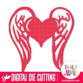 Winged Heart - SVG Cut Files