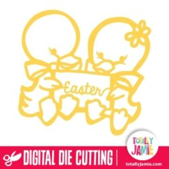 Yellow Chicks Easter - SVG Cut Files