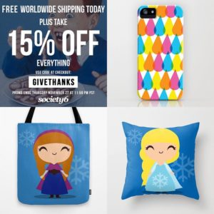 TotallyJamie x Society6 Black Friday Sale Promotion