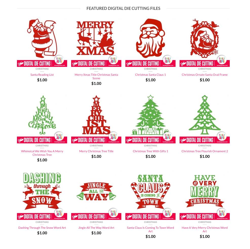 TotallyJamie Christmas Die Cutting Files