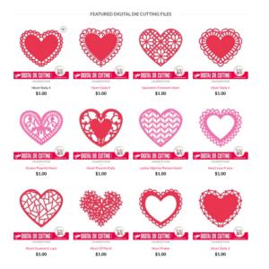 Valentine's Day 2015 Digital Die Cutting Files